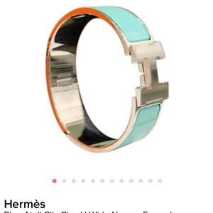 Hermes Blue Atoll Clic Clac H Wide lacquered